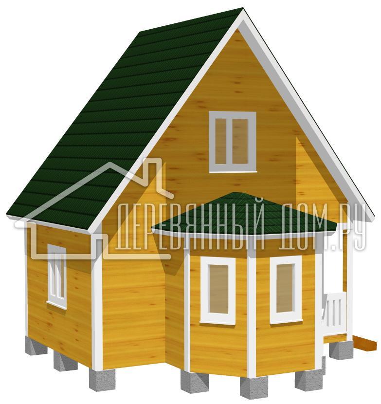 проекты каркасных домов 6х4